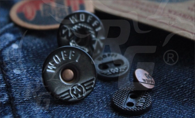 Jeans Button dan Metal Button Kancing kemeja lubang 4 Woffi kids